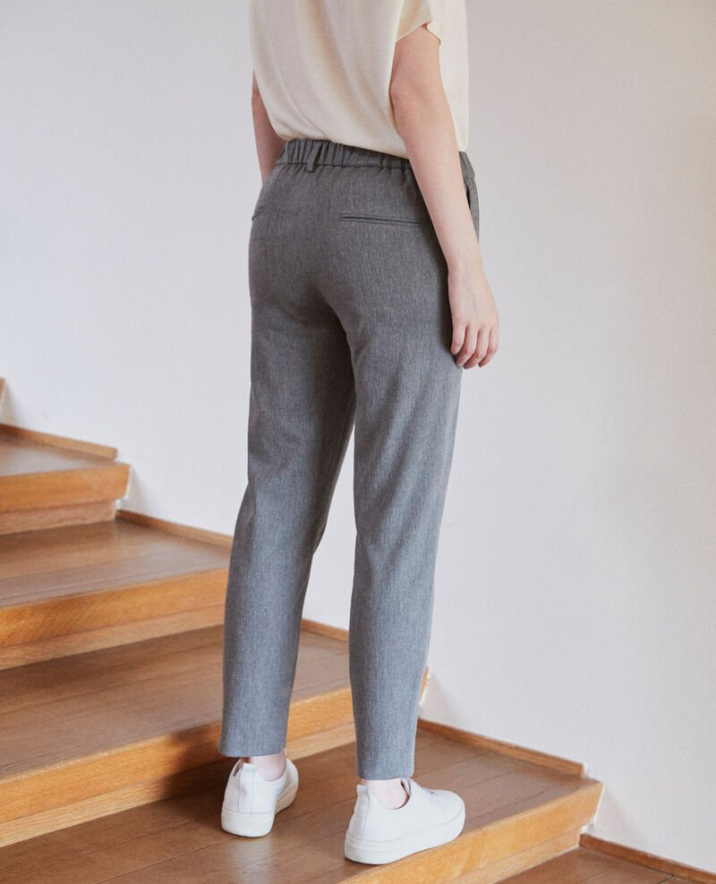 Pantalón corte carrot Medium grey Galetto