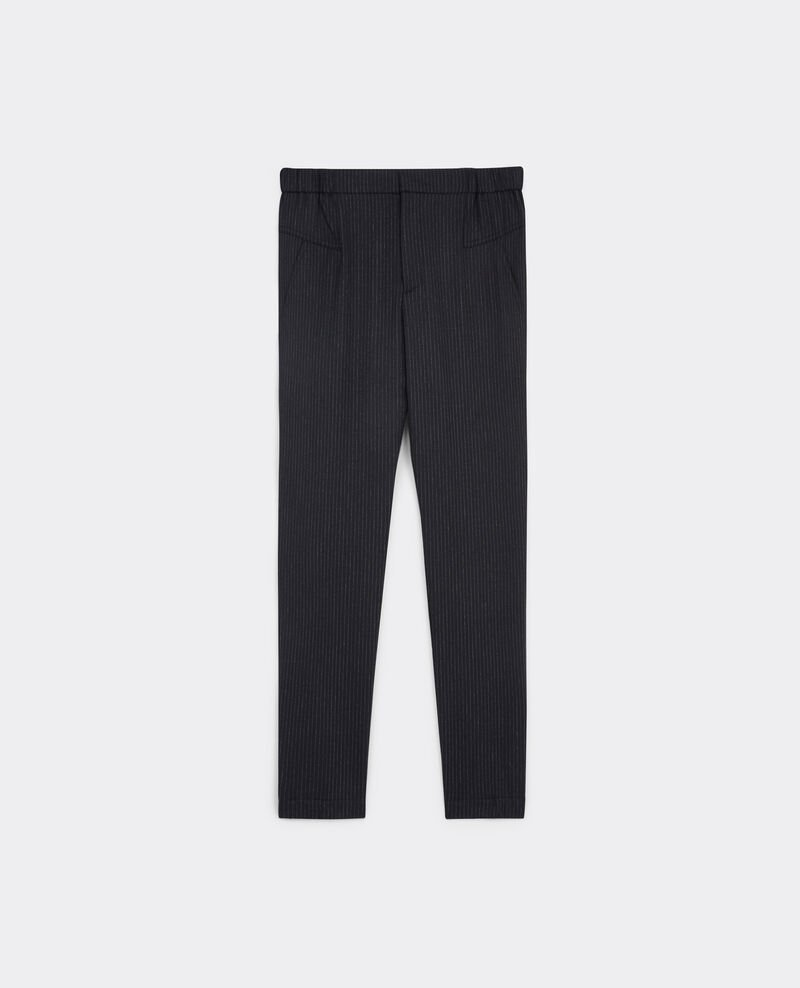 Pantalón jegging de franela de lana Dark heather grey Bikrami