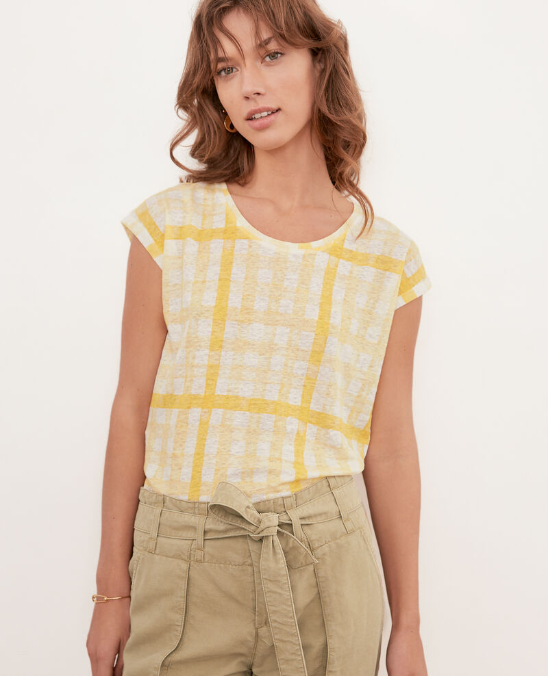 Camiseta estampada de lino GHINGHAM BIG LEMON