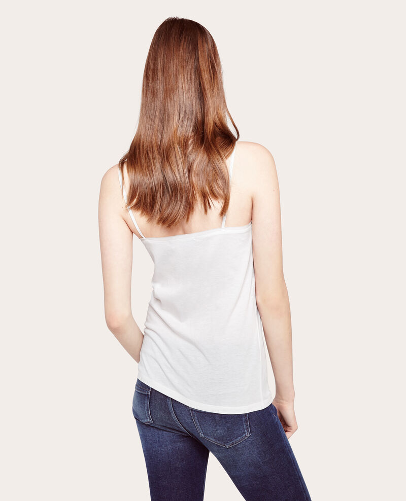 Camiseta de dos tejidos Off white Awally