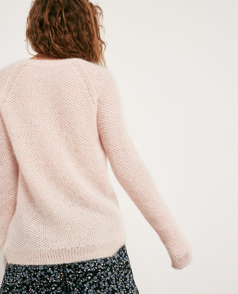 Jersey con mohair Marshmallow/off white Dahbia