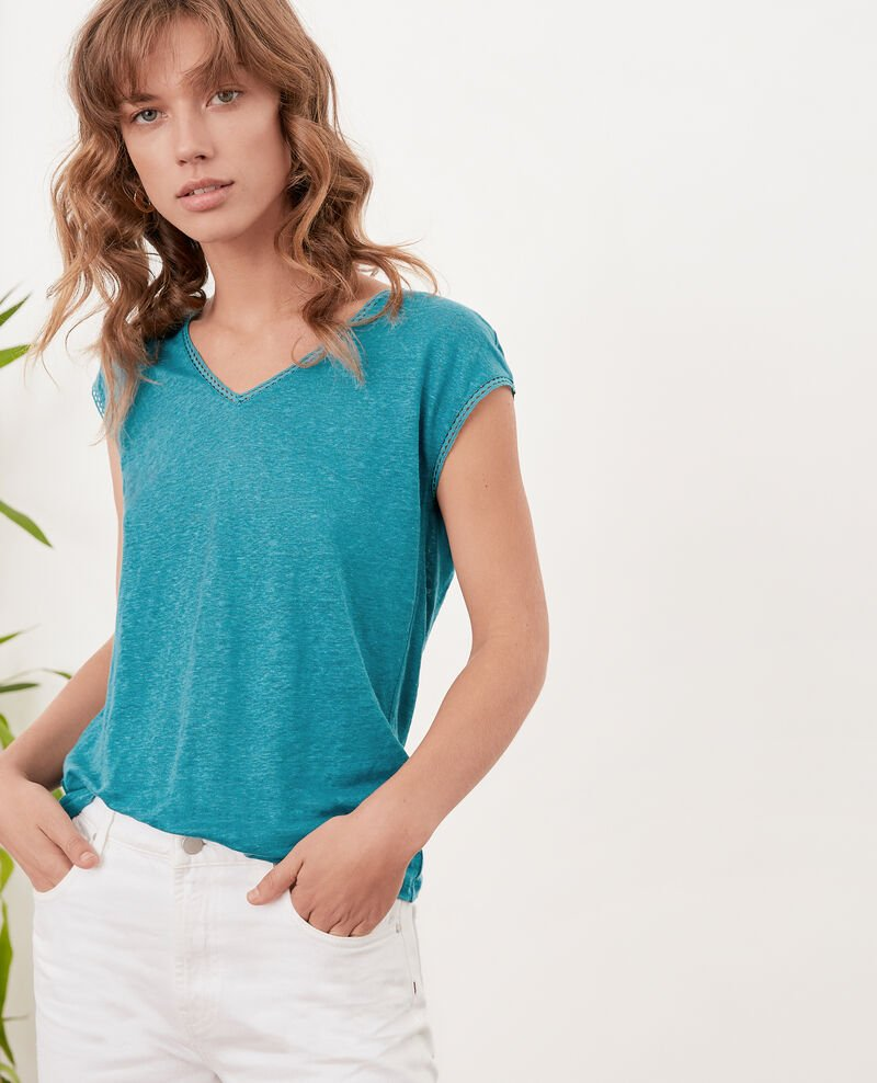 Camiseta de lino PACIFIC GREEN
