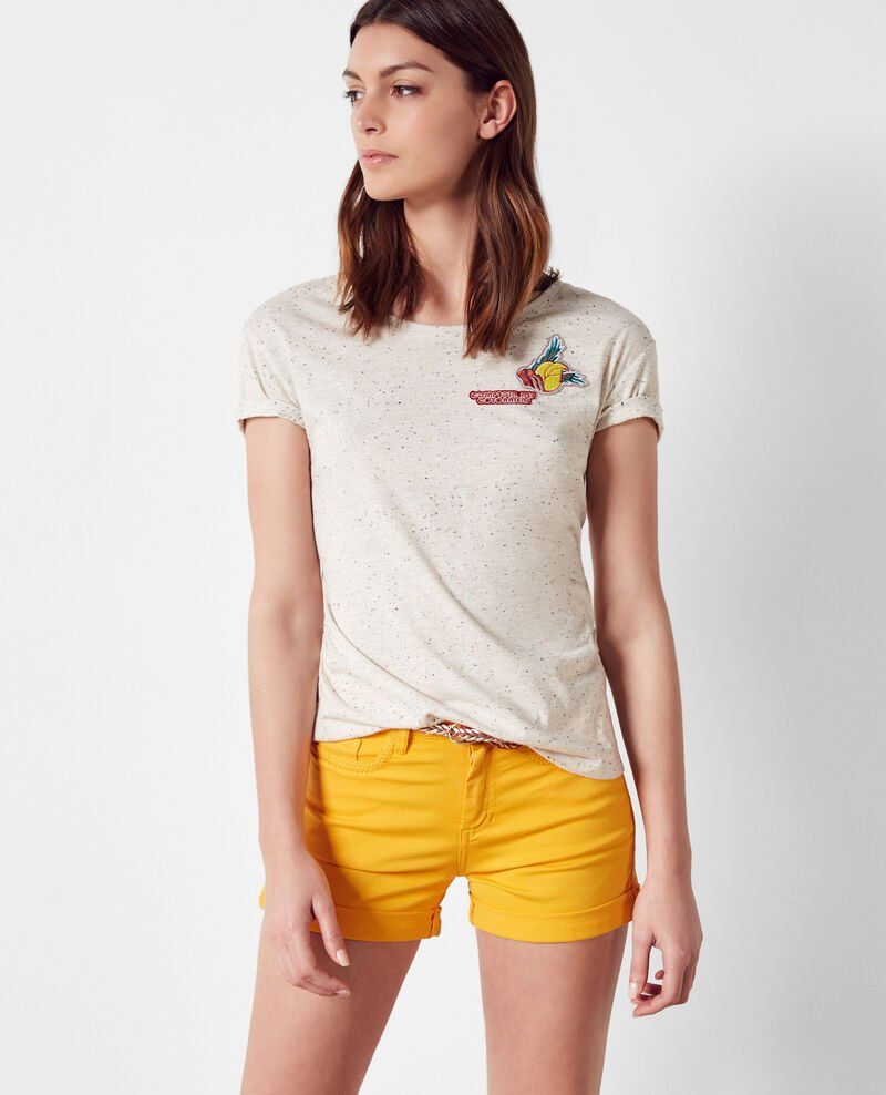 Camiseta con parches decorativos Lin Cordou