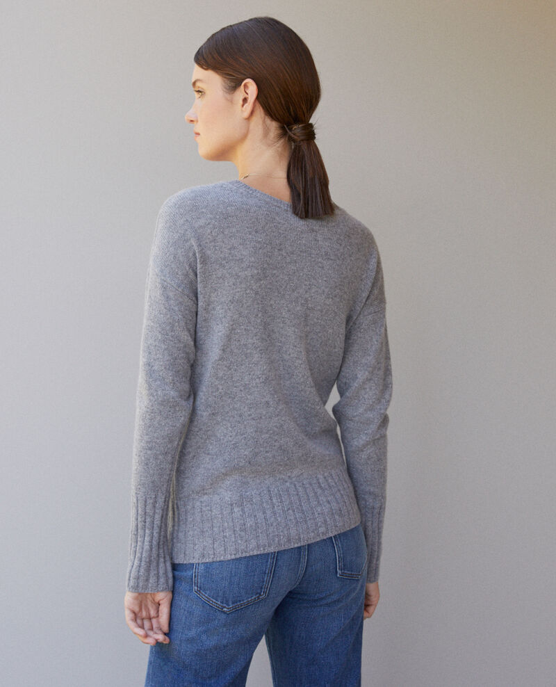 Jersey de cachemir Light heather grey Guerin
