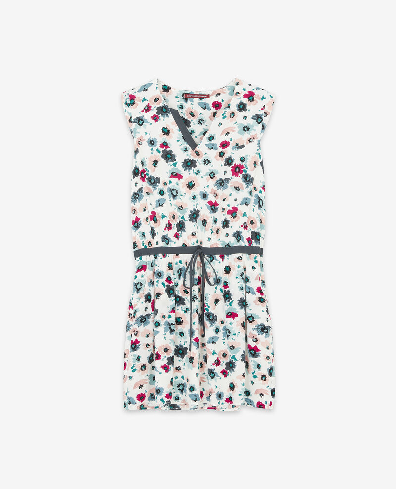 Vestido estampado Poppies off white Deso