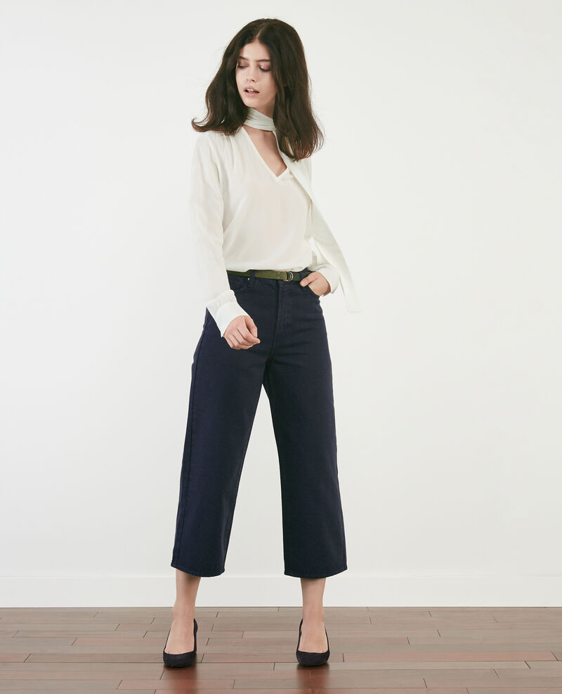 Jeans cropped anchos NAVY OVERDYE