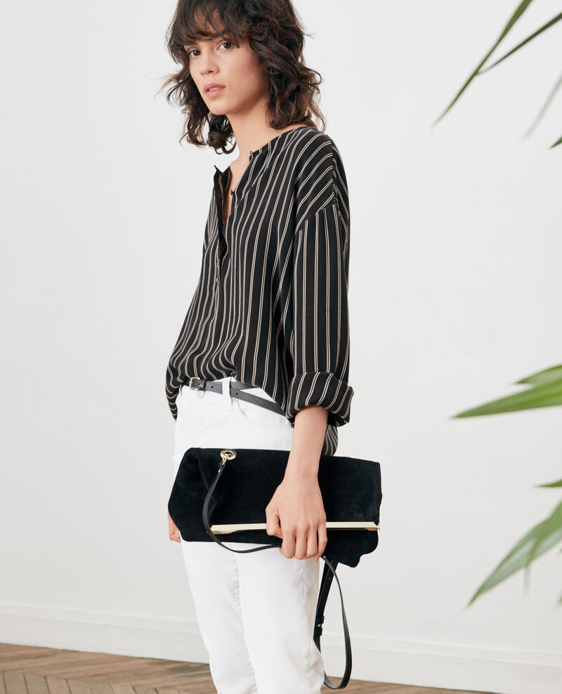 Blusa rayada Black/off white stripes Fraise