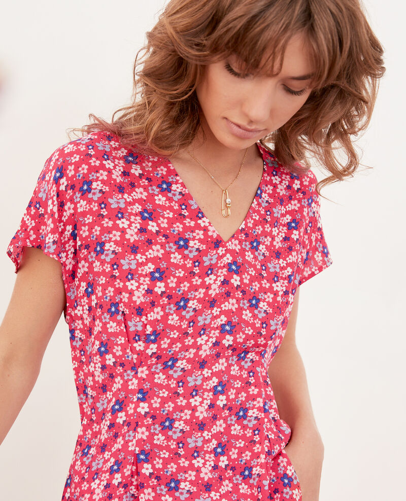 Blusa estampada Honolulu ultra pink Fily