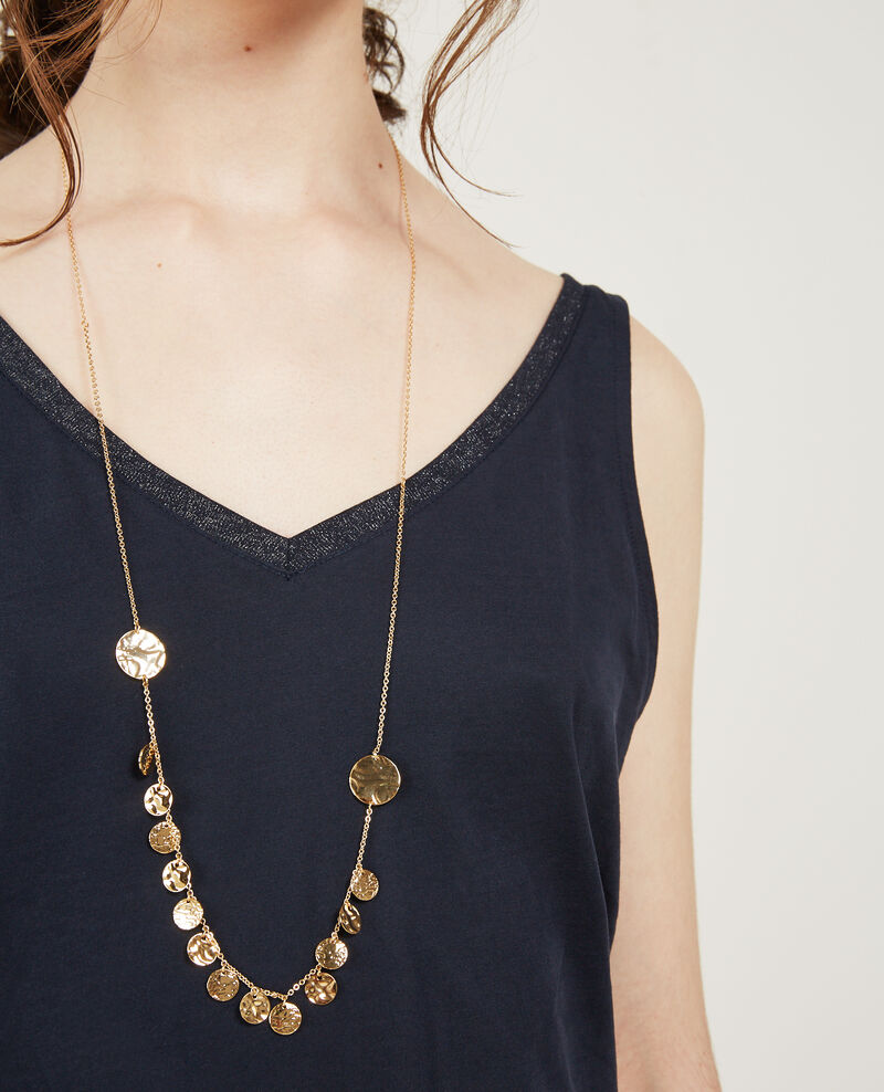 Collar largo con colgantes redondos Gold Design