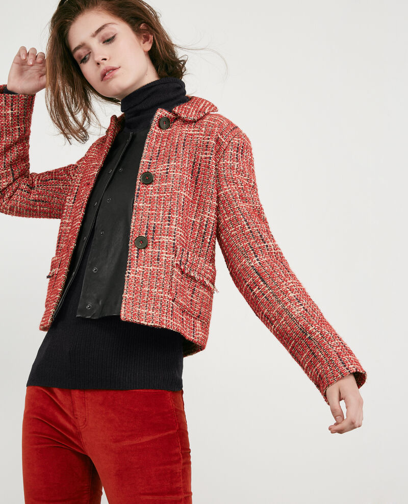Chaqueta de tweed Orange red Djimmy