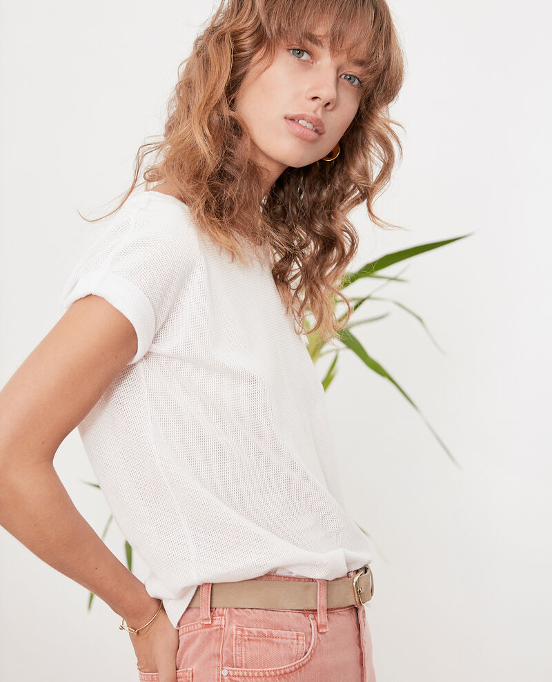 Camiseta de cuello redondo OFF WHITE
