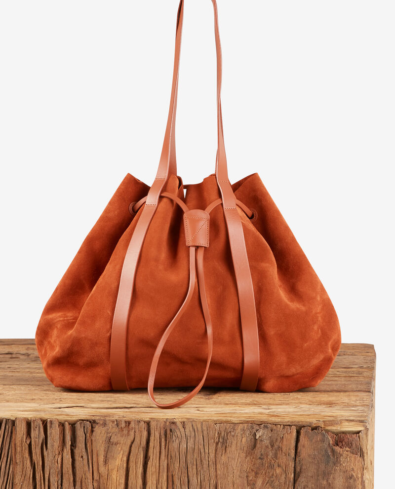 Bolso shopper de cuero y dos materiales Rust Debut