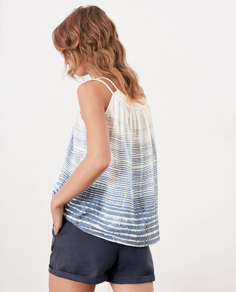 Top con finos tirantes Tie&dye washed blue Funny