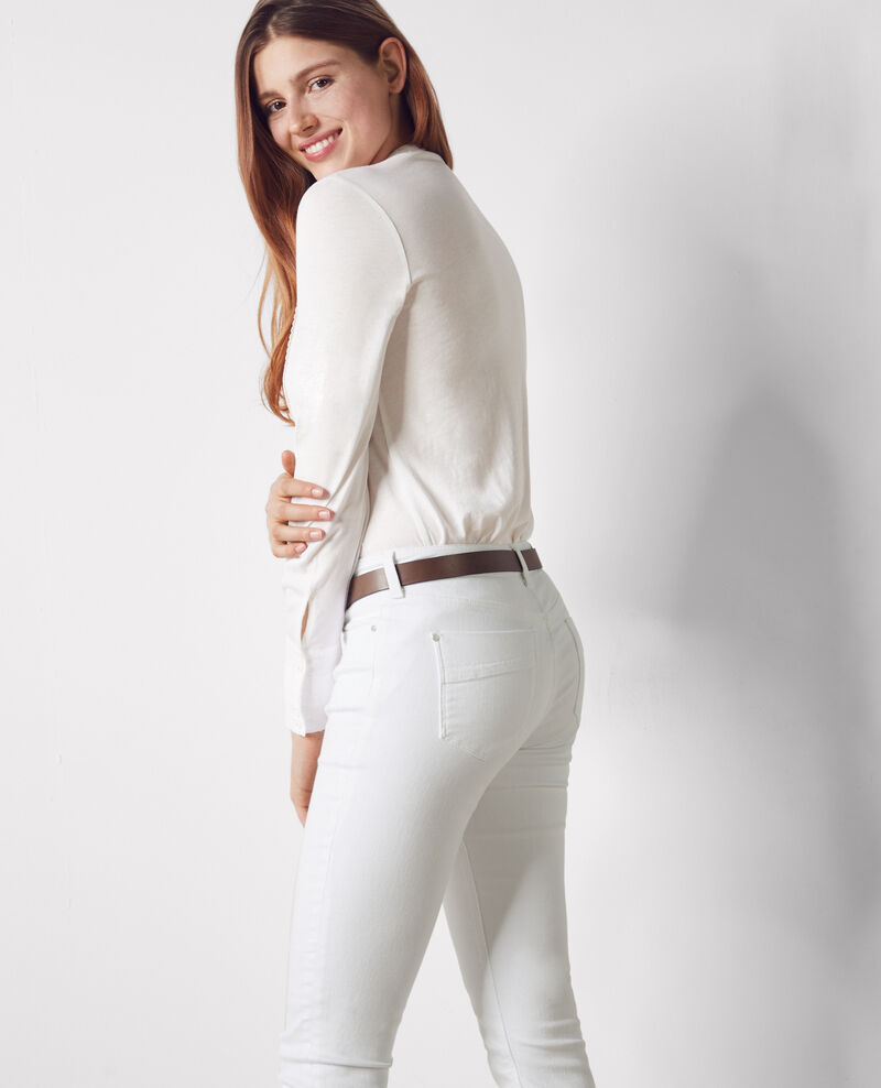 "Jeans slim ""Ma demoiselle"" Off white Cibou"