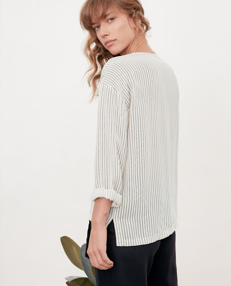 Blusa rayada Off white/black stripes Fraise