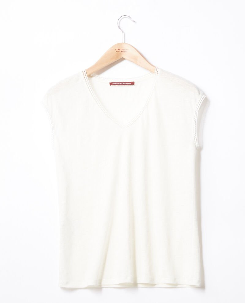 Camiseta de lino OFF WHITE