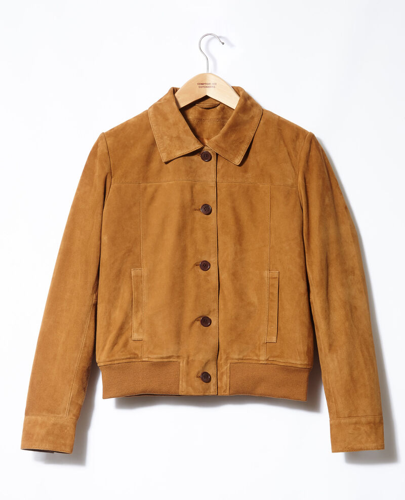 Chaqueta de ante Golden brown Ganberry