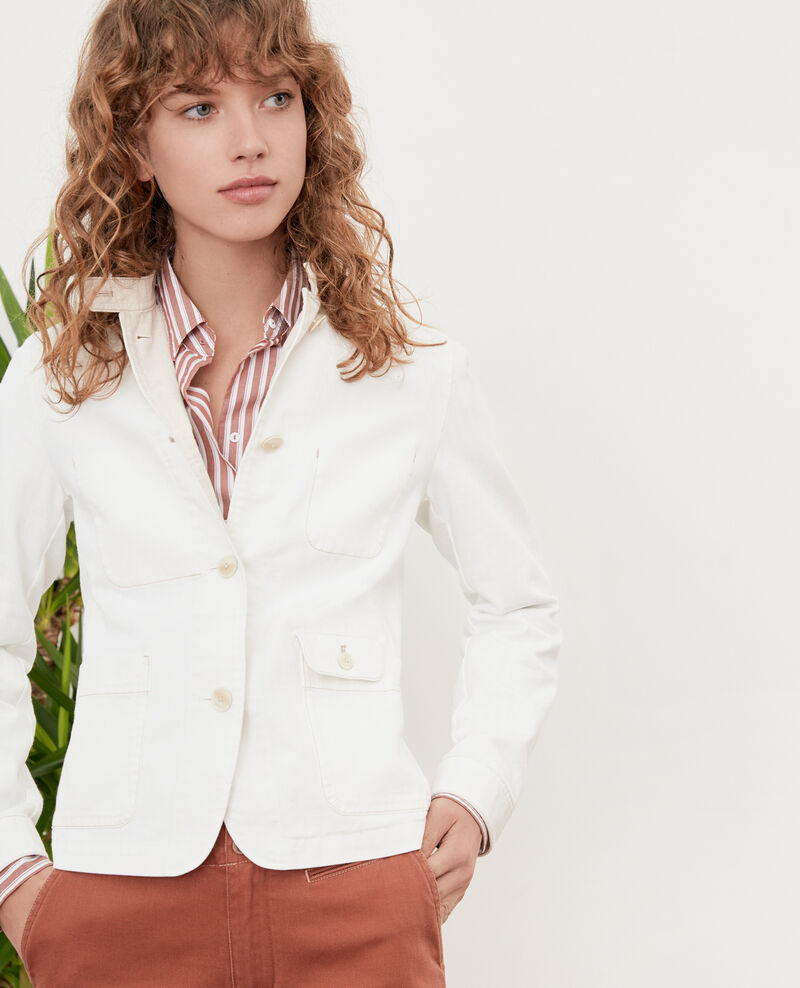 Chaqueta cuello mao Off white Felotte