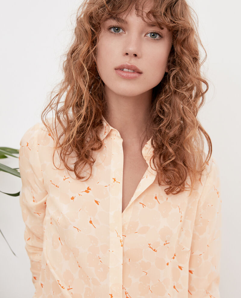 Camisa fluida BLOSSOM SHADOW BISCUIT