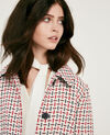 Abrigo de tweed con lana Off white Diarritz