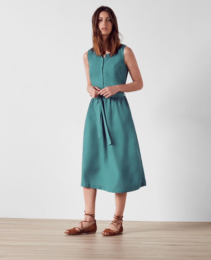 Vestido de tencel Jungle green Charles