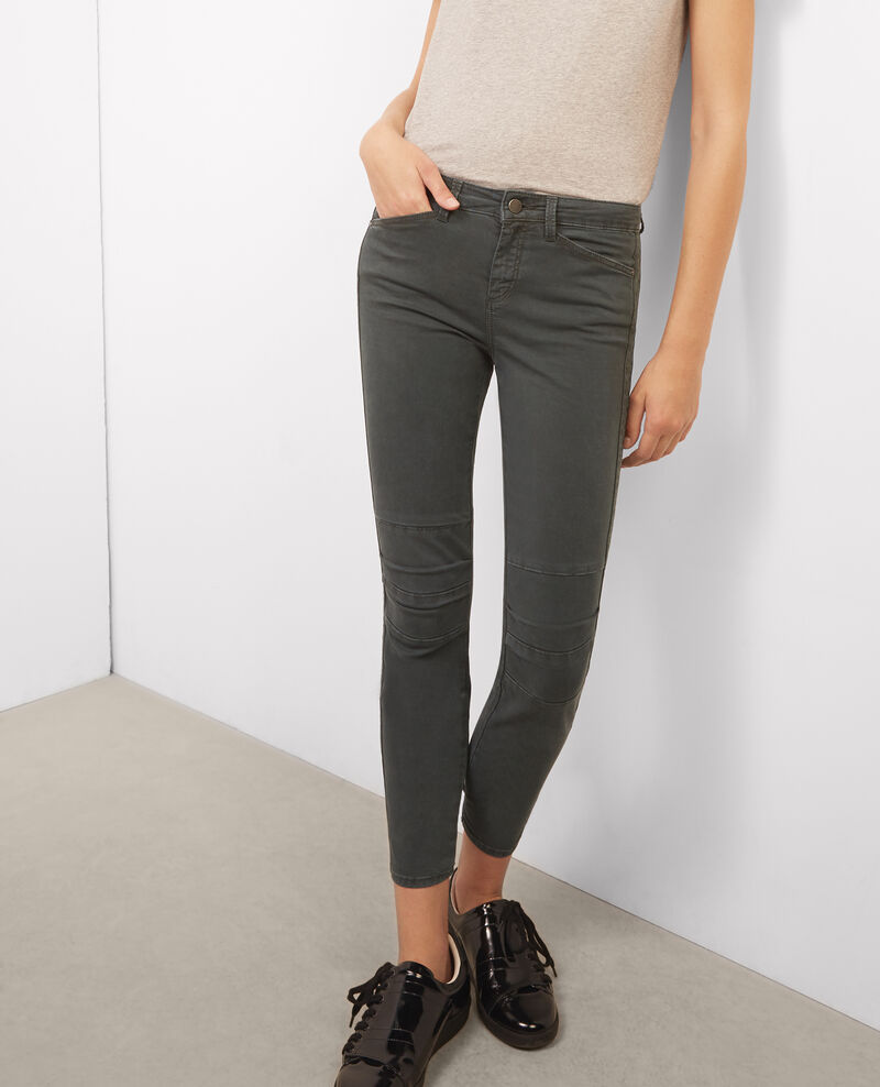 Jeans cropped Hunter green Bagio