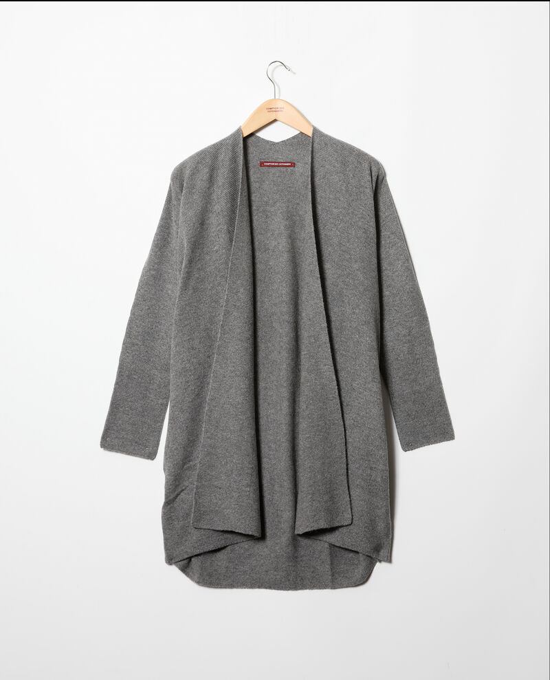 Chaqueta de punto 3D con cachemir Medium heather grey Gelinda