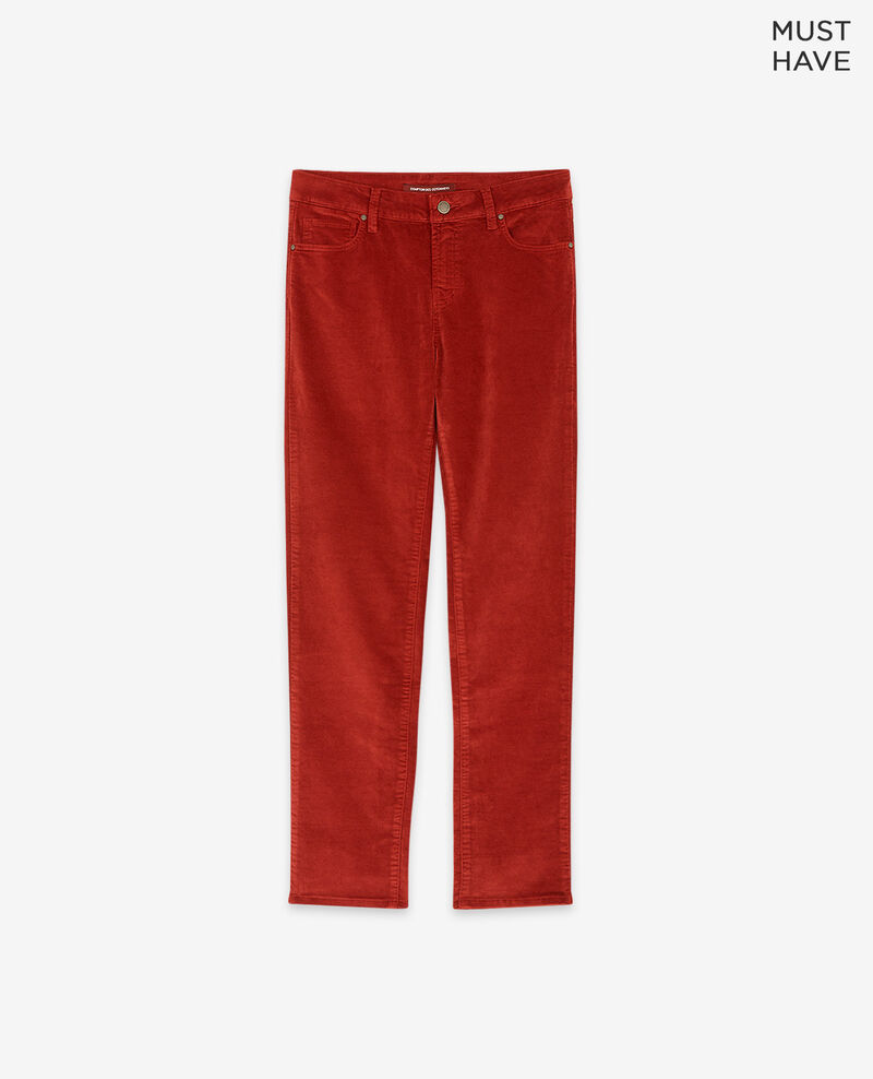 Pantalón cigarette de terciopelo stretch Devil Decharpe