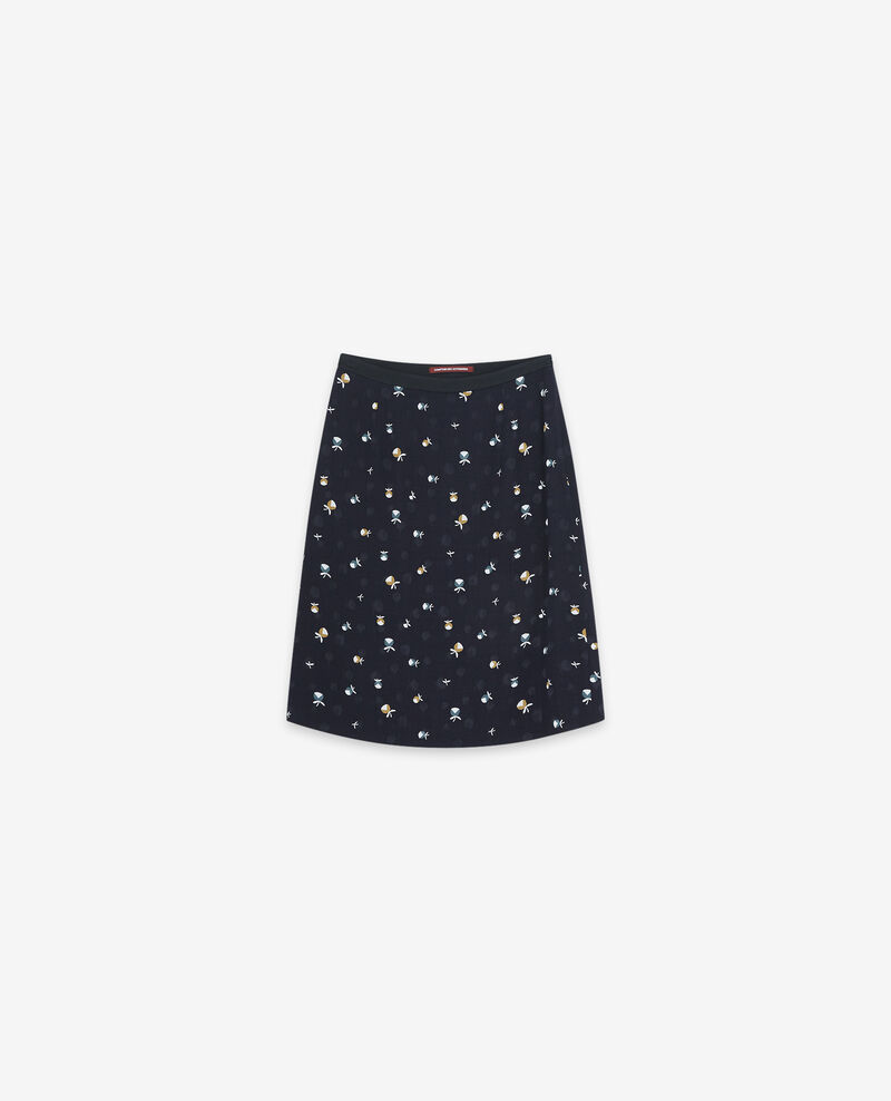 Falda estampada Pinecones dark navy Dickael