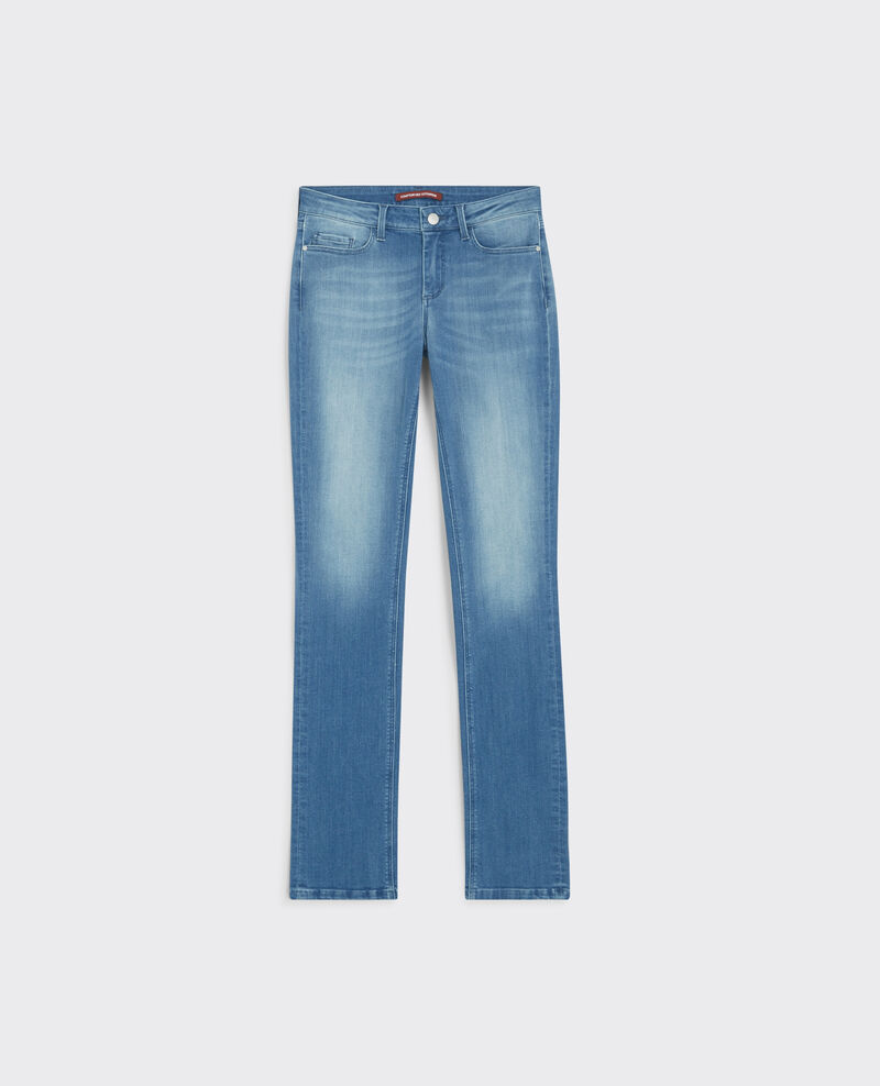 "Jeans rectos ""Fille dans le vent"" Light surf blue Cube"
