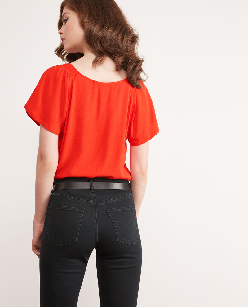 Blusa fluida Orange red Deal