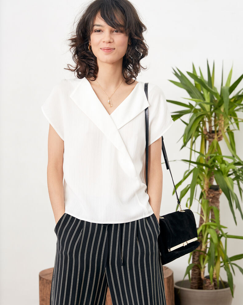 Top con escote en la espalda Off white Fevrier
