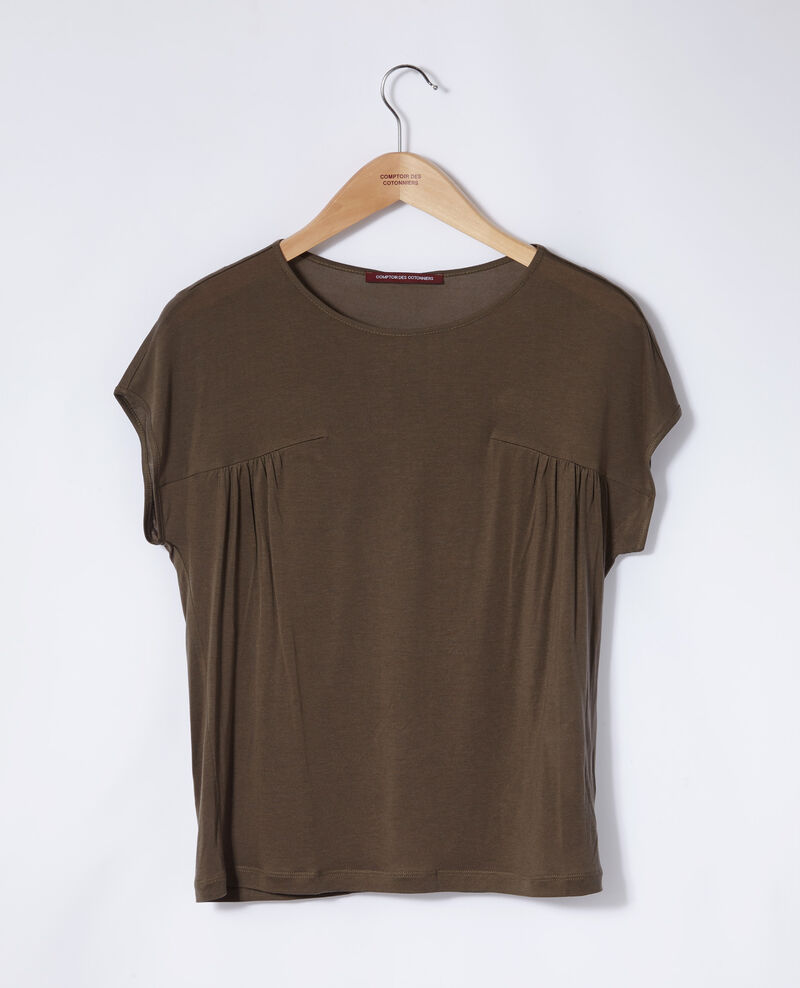 Camiseta de cuello redondo Olive night Gaillet