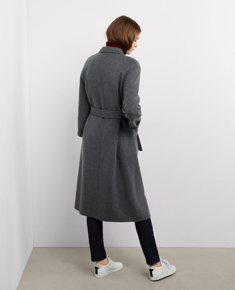 Abrigo oversize de lana Dark heather grey Bille