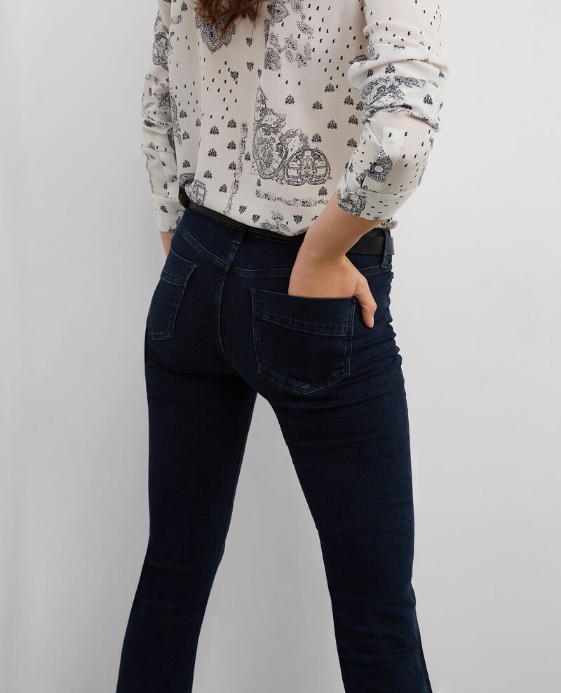 "Jeans rectos cropped ""Rendez-Vous"" Light blue black Bemol"