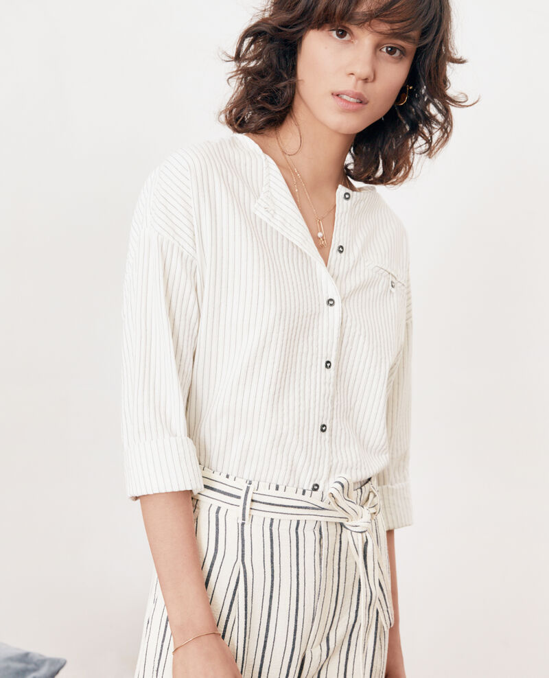 Camisa rayada OFF WHITE/NAVY STRIPES