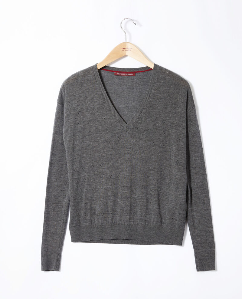 Jersey de lana merino Dark heather grey Garago