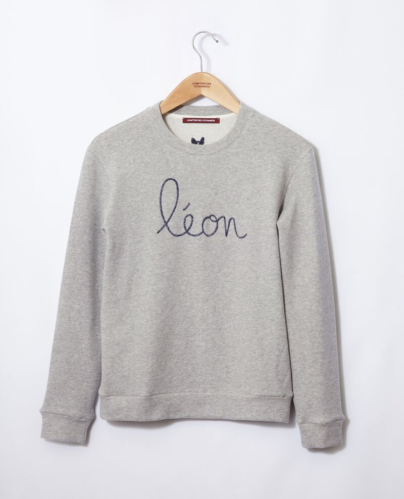 Sudadera con bordado Léon Chine grey/peacoat Gleon