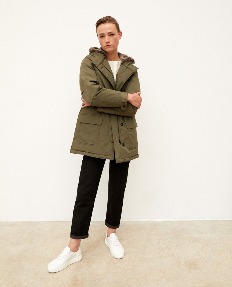 Parka con capucha OLIVE NIGHT