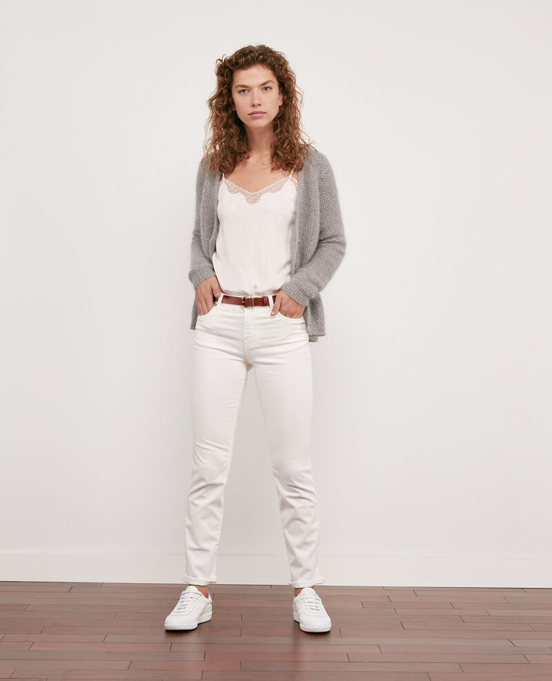 Cárdigan con mohair Light grey/off white Djoan