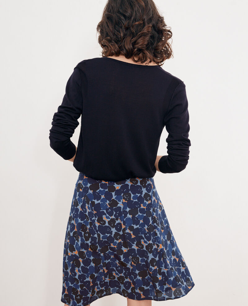 Jersey con seda Navy Froufrou