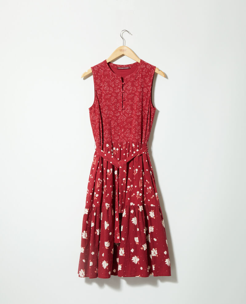 Vestido estampado Anthemis bloom rio red Garry