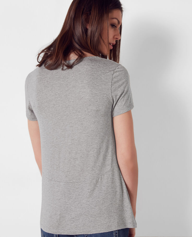 Camiseta brillante Gris chine Cygne