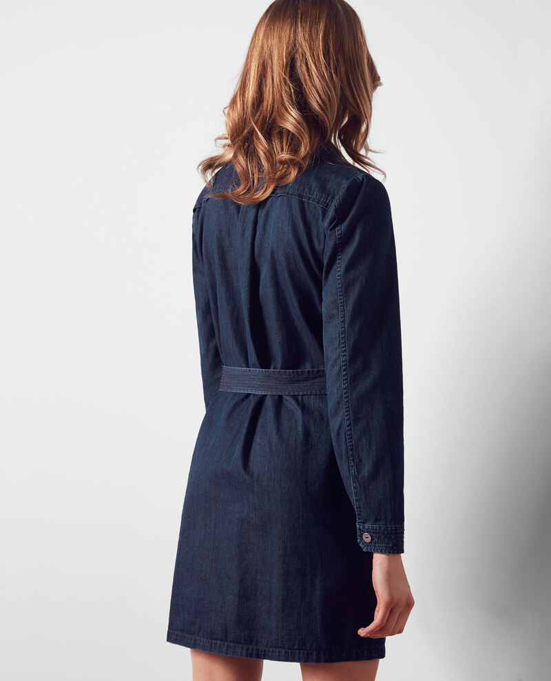 Vestido camisero en denim Dark blue Creation