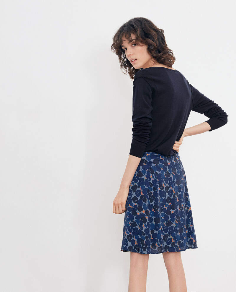 Falda estampada Blossom shadow indigo Finet