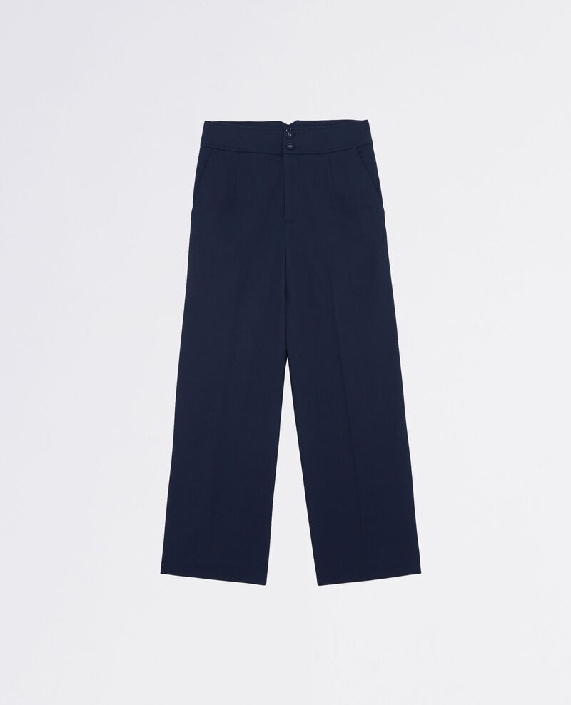 Pantalón amplio cropped Midnight blue Calcium