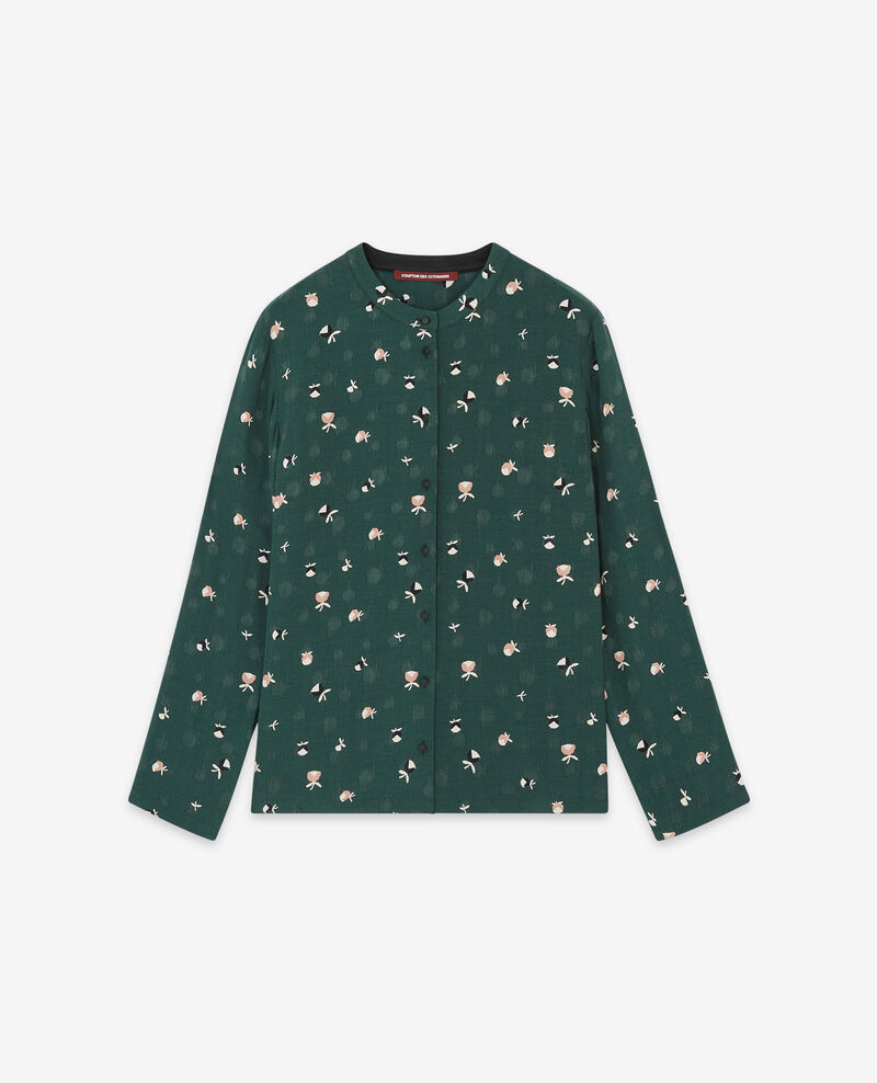 Camisa estampada Pinecones deep green 9davocat