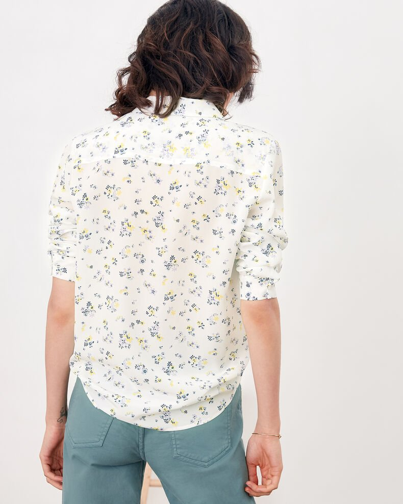 Camisa de seda estampada Lillybell kaolin Follower