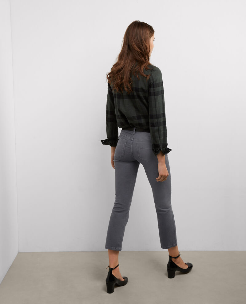 "Jeans rectos cropped ""Rendez-Vous"" Dark grey Bemol"