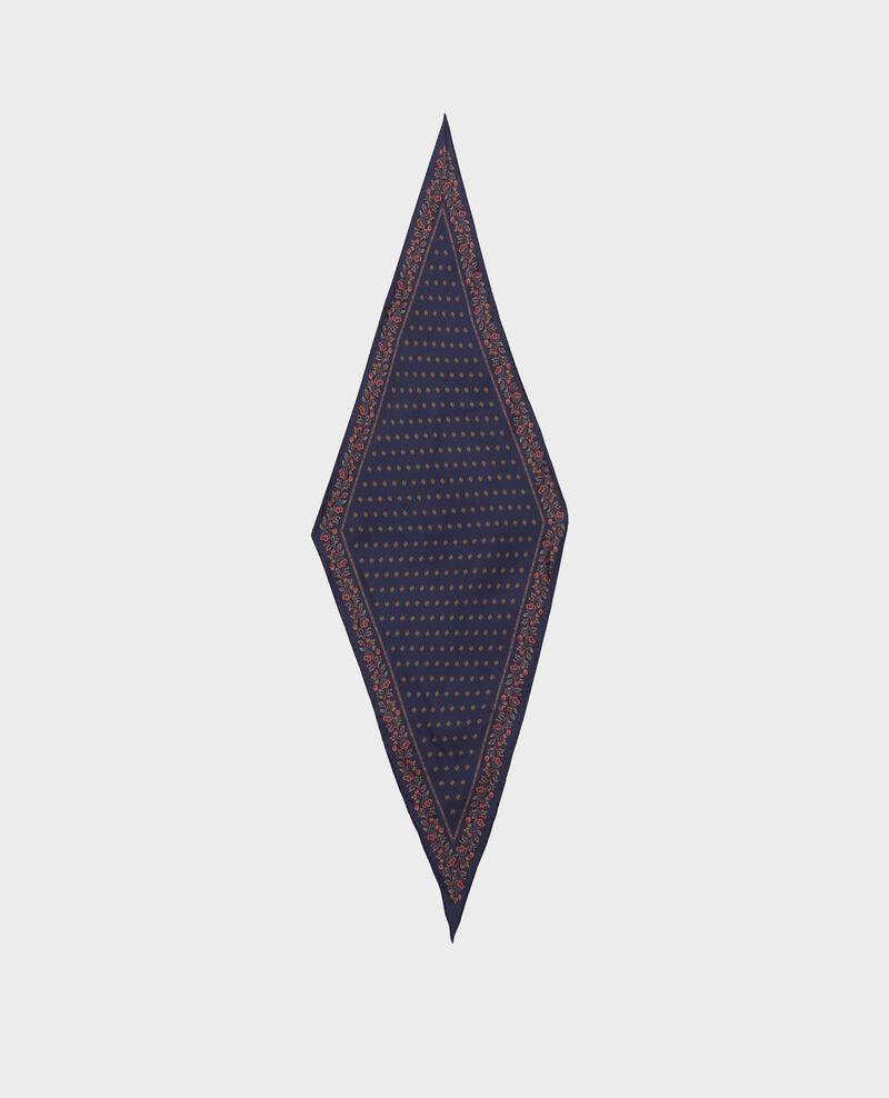 Fular de seda con forma de rombo Night sky Nandana